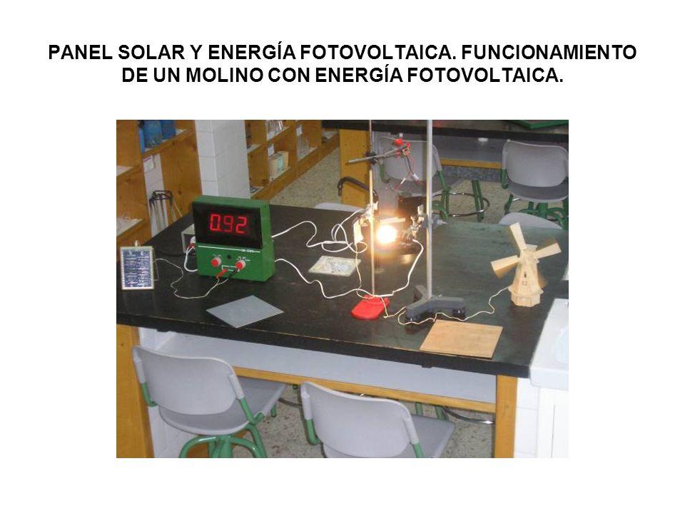 PANEL SOLAR Y ENERGÍA FOTOVOLTAICA