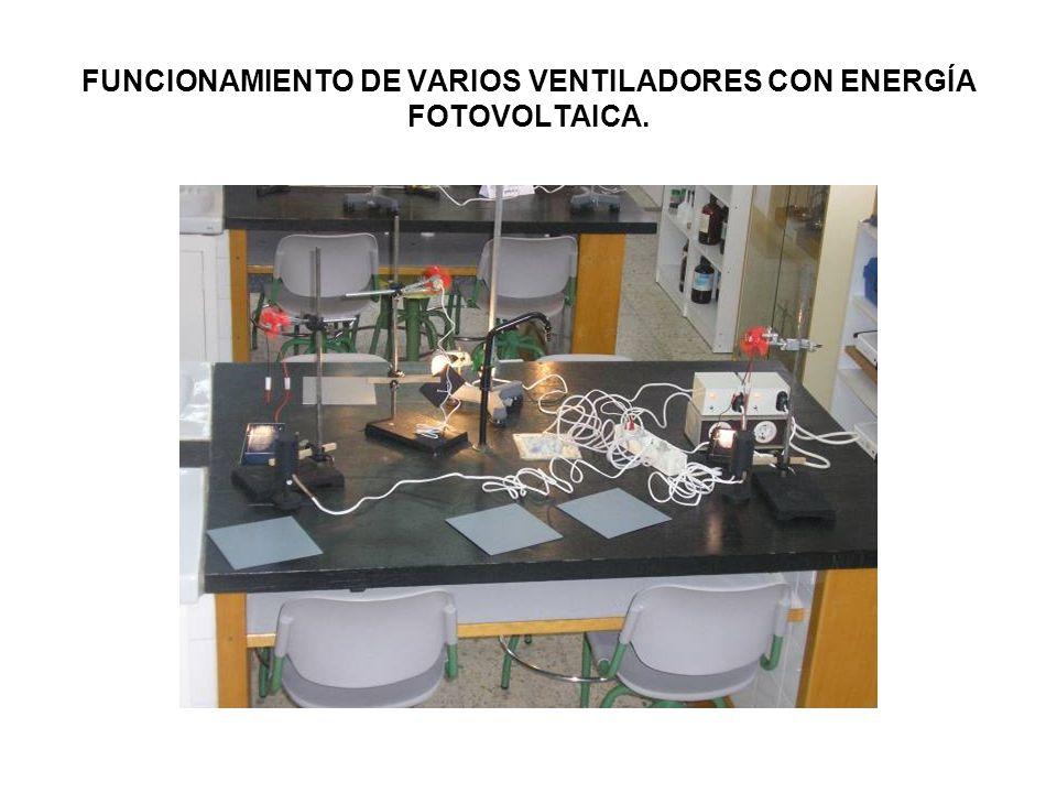 FUNCIONAMIENTO DE VARIOS VENTILADORES CON ENERGÍA FOTOVOLTAICA.