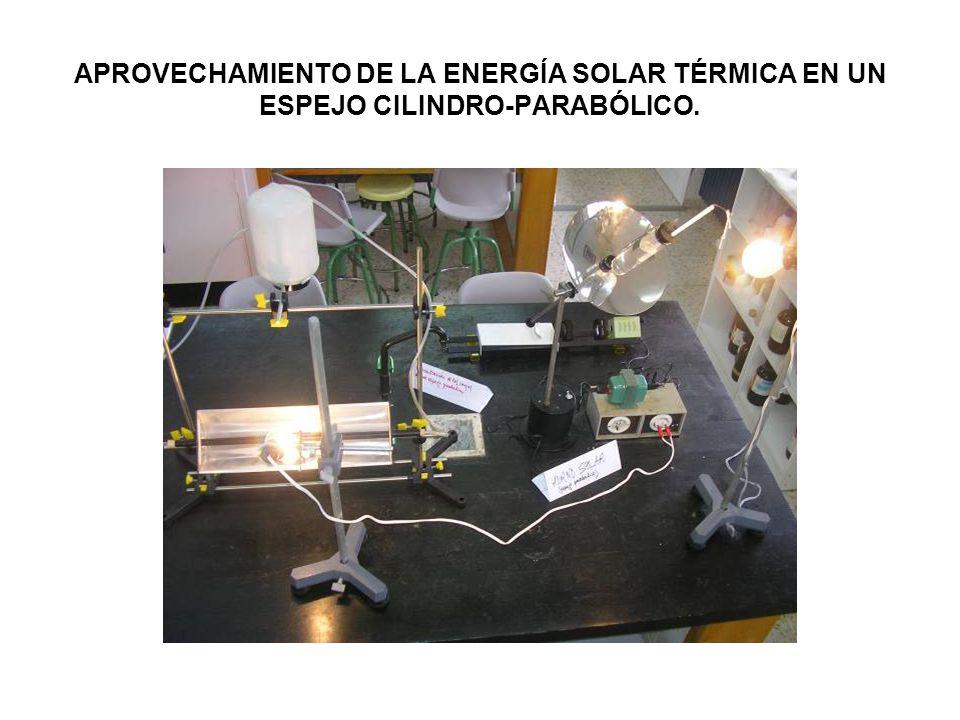 APROVECHAMIENTO DE LA ENERGÍA SOLAR TÉRMICA EN UN ESPEJO CILINDRO-PARABÓLICO.