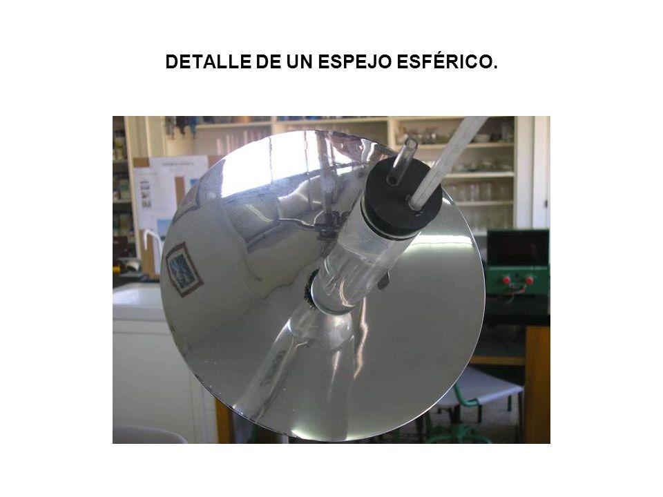 DETALLE DE UN ESPEJO ESFÉRICO.