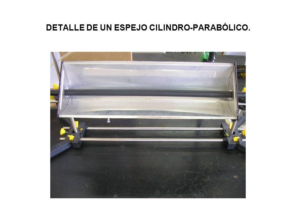 DETALLE DE UN ESPEJO CILINDRO-PARABÓLICO.