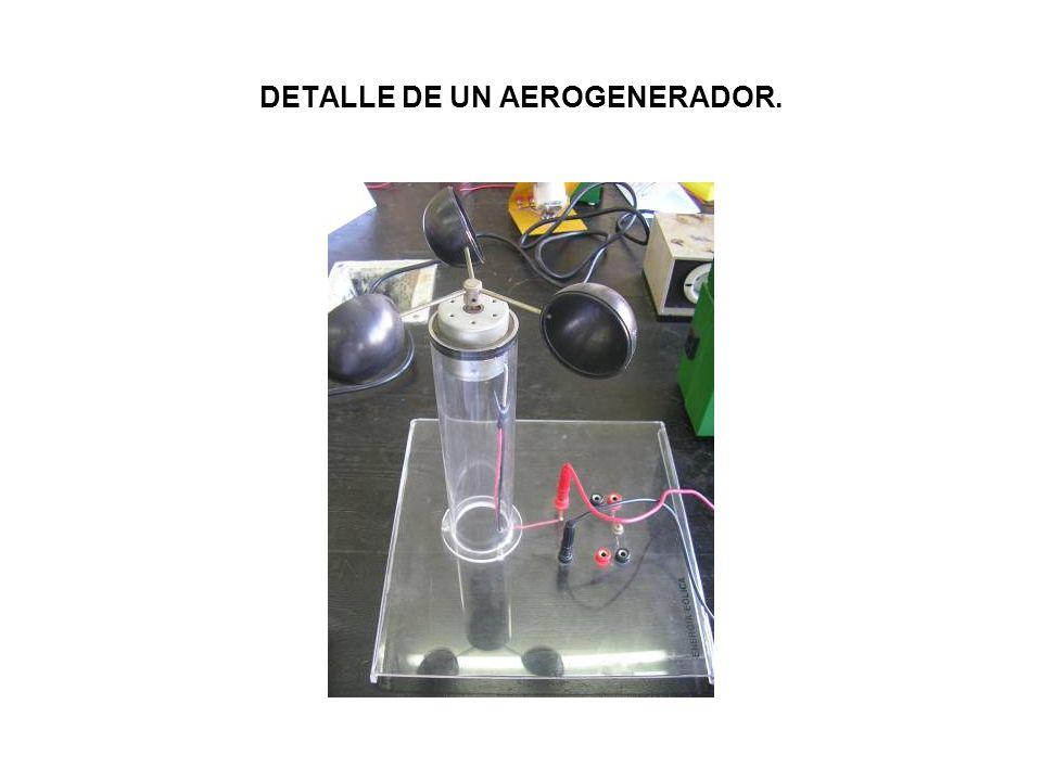 DETALLE DE UN AEROGENERADOR.