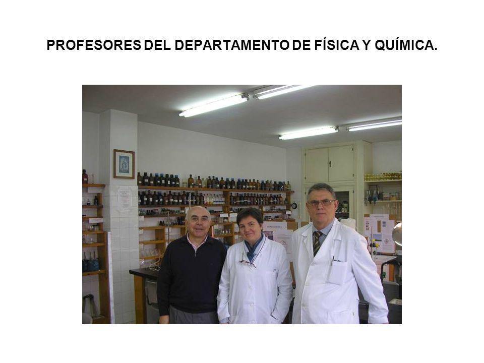 PROFESORES DEL DEPARTAMENTO DE FÍSICA Y QUÍMICA.