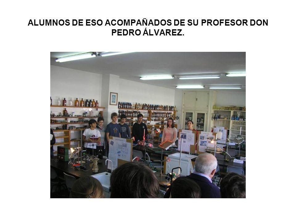 ALUMNOS DE ESO ACOMPAÑADOS DE SU PROFESOR DON PEDRO ÁLVAREZ.