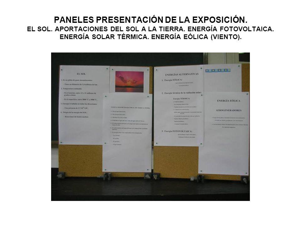 PANELES PRESENTACIÓN DE LA EXPOSICIÓN. EL SOL