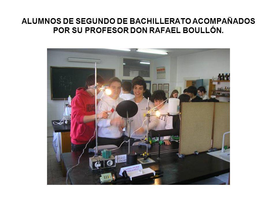 ALUMNOS DE SEGUNDO DE BACHILLERATO ACOMPAÑADOS POR SU PROFESOR DON RAFAEL BOULLÓN.