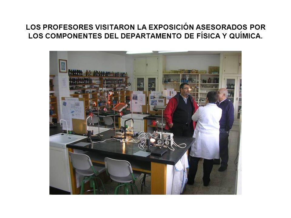 LOS PROFESORES VISITARON LA EXPOSICIÓN ASESORADOS POR LOS COMPONENTES DEL DEPARTAMENTO DE FÍSICA Y QUÍMICA.