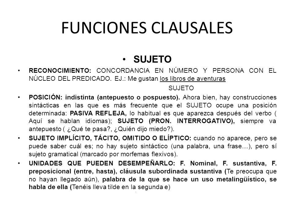 FUNCIONES CLAUSALES SUJETO
