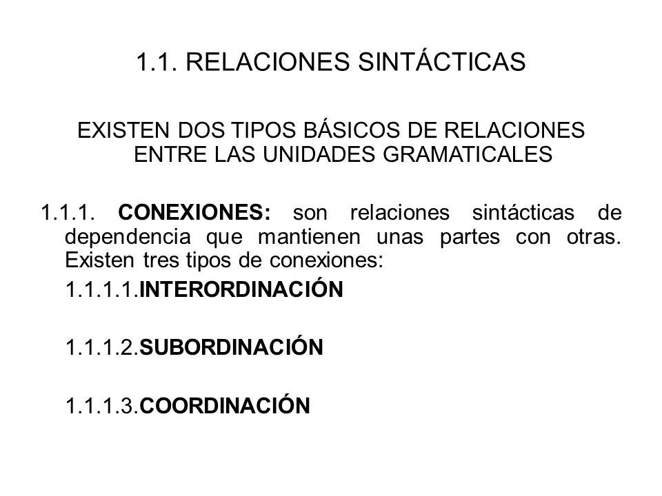 1.1. RELACIONES SINTÁCTICAS