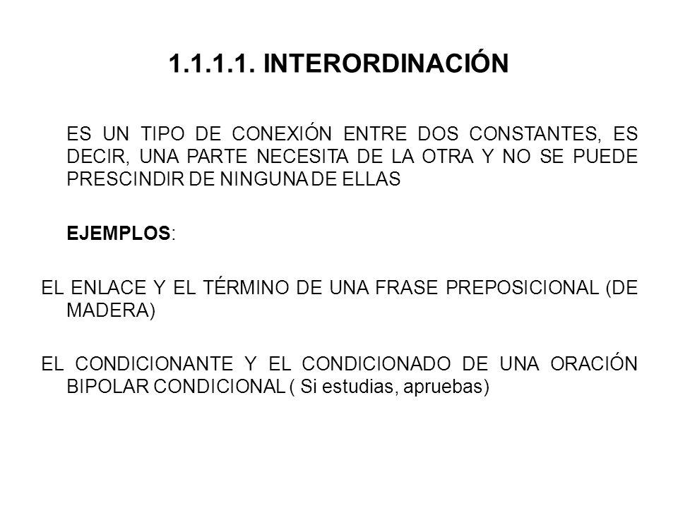 1.1.1.1. INTERORDINACIÓN