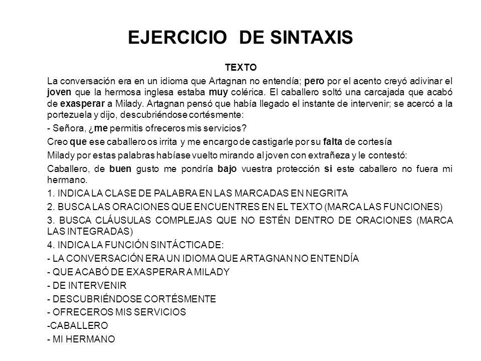 EJERCICIO DE SINTAXIS