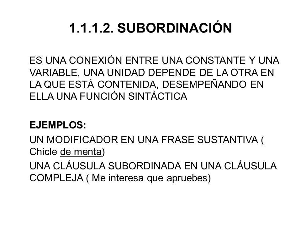 1.1.1.2. SUBORDINACIÓN