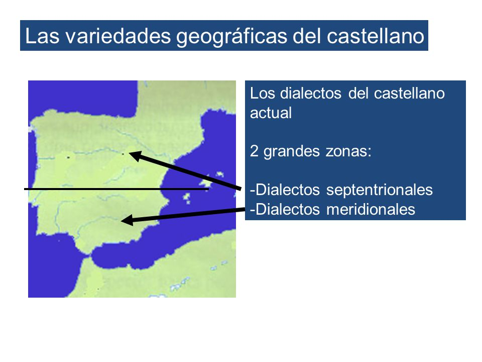 Las variedades geográficas del castellano