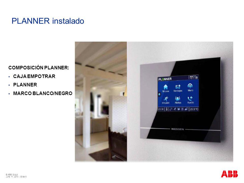 PLANNER instalado COMPOSICIÓN PLANNER: CAJA EMPOTRAR PLANNER