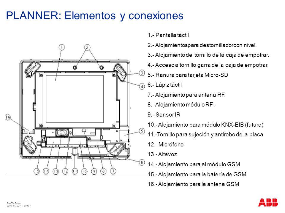 PLANNER: Elementos y conexiones