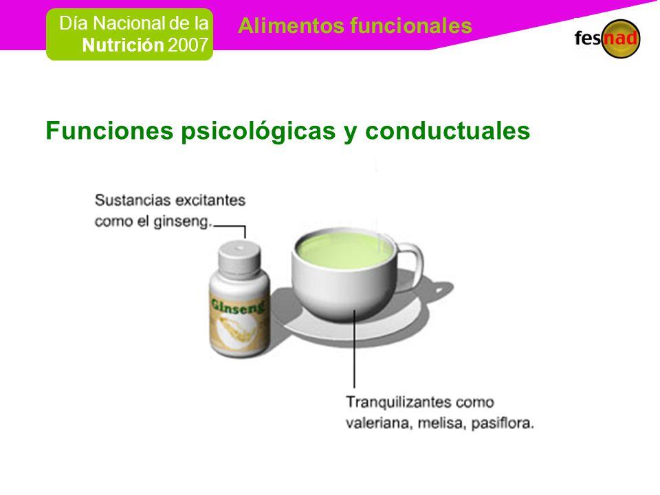 Funciones psicológicas y conductuales