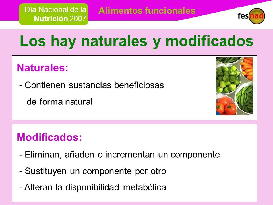Los hay naturales y modificados