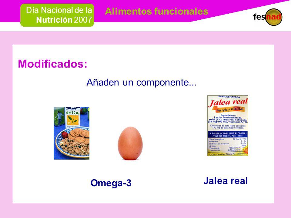 Modificados: Añaden un componente... Jalea real Omega-3
