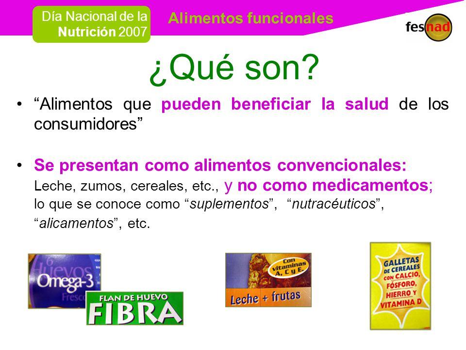 ¿Qué son Alimentos que pueden beneficiar la salud de los consumidores