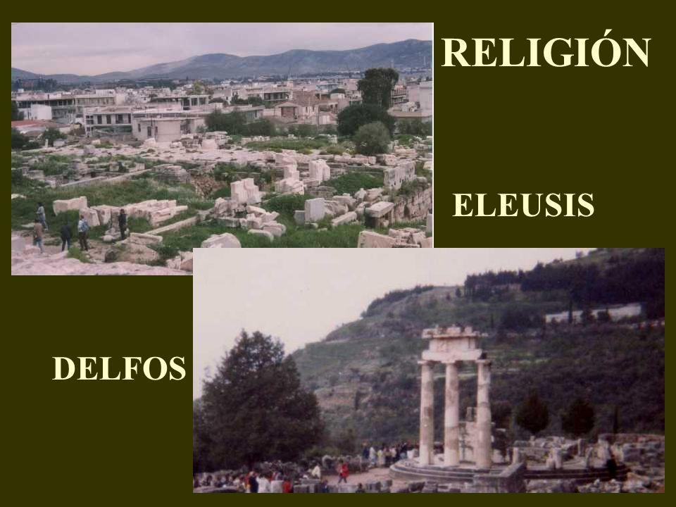 RELIGIÓN ELEUSIS DELFOS