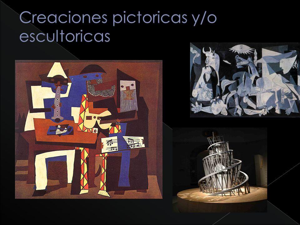 Creaciones pictoricas y/o escultoricas