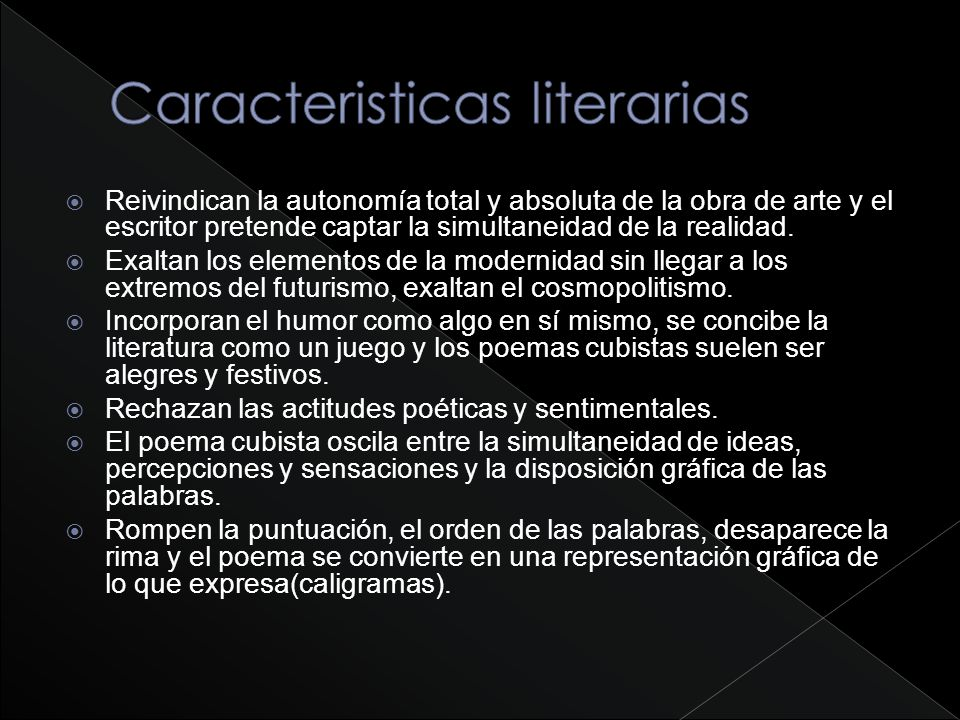 Caracteristicas literarias