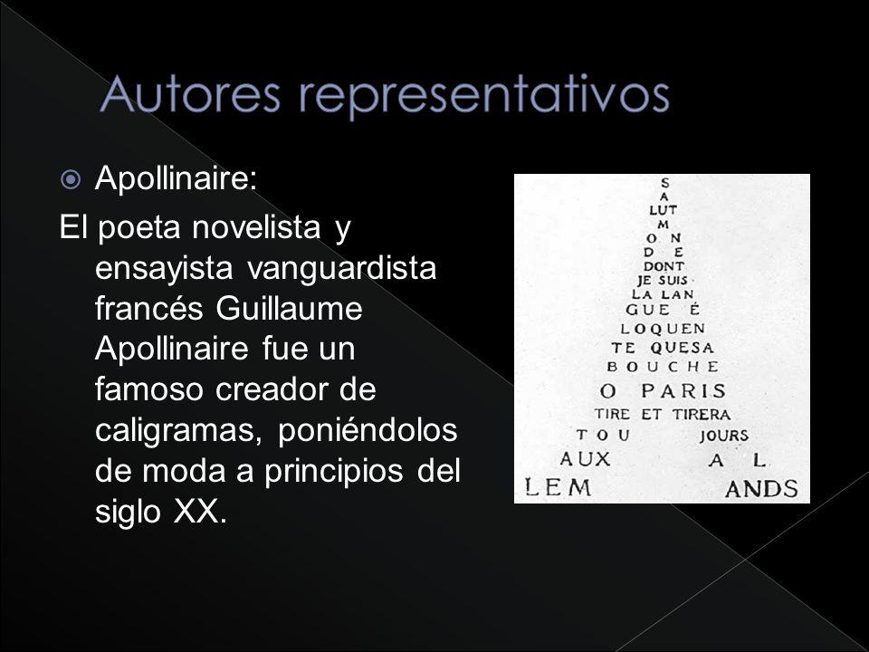 Autores representativos