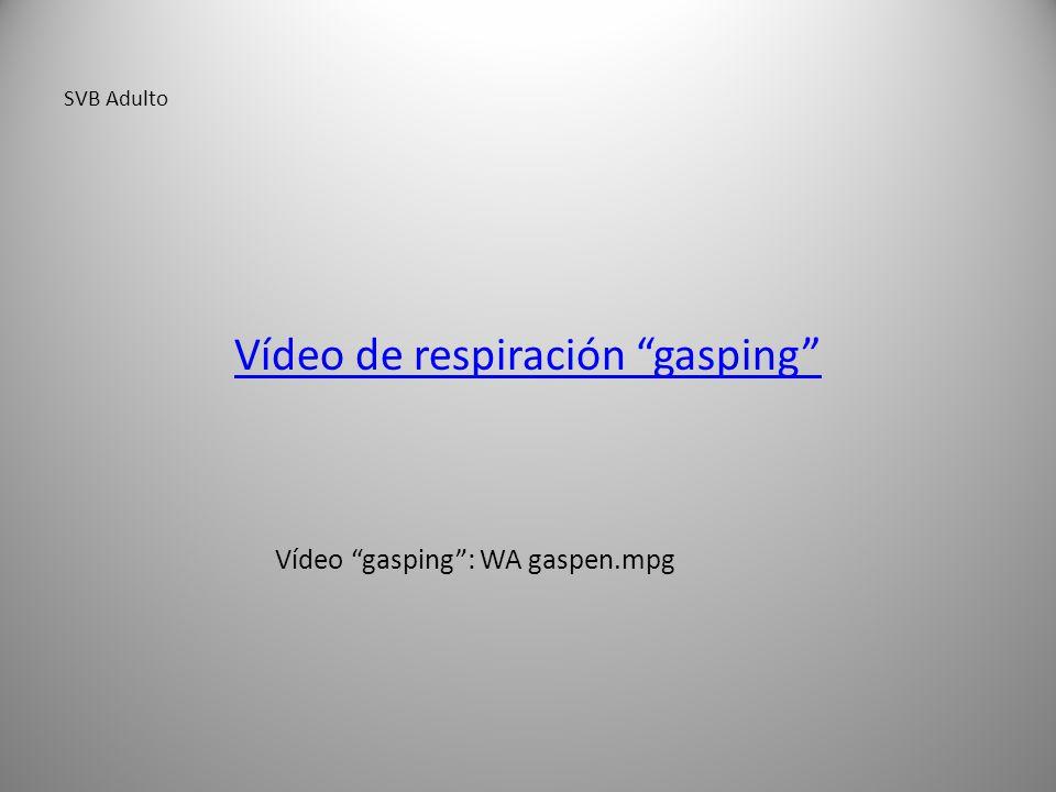 Vídeo de respiración gasping