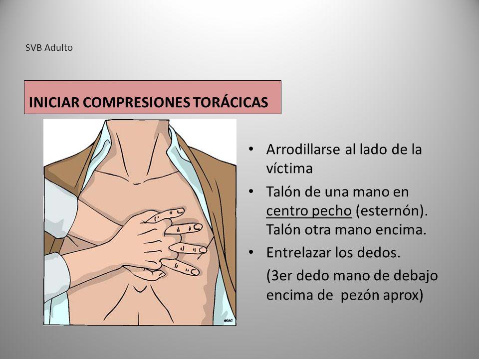 INICIAR COMPRESIONES TORÁCICAS