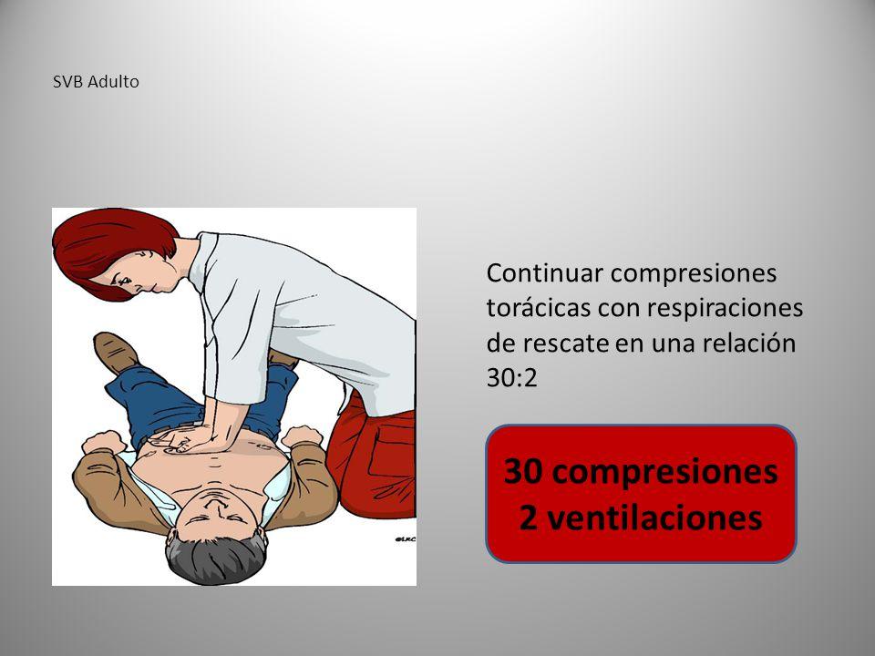 30 compresiones 2 ventilaciones