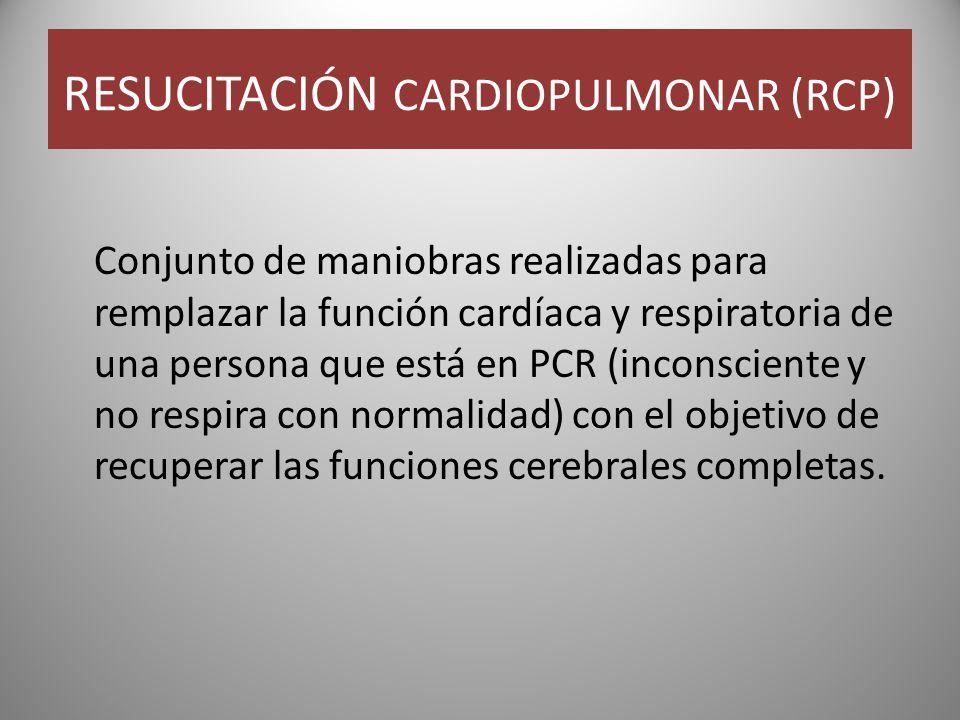RESUCITACIÓN CARDIOPULMONAR (RCP)