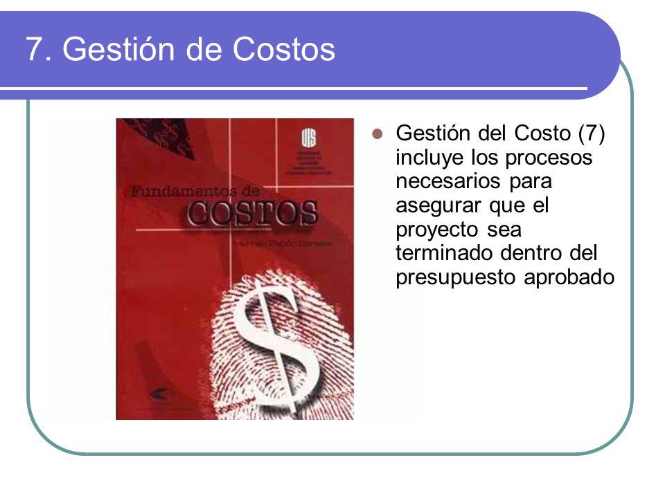 7. Gestión de Costos