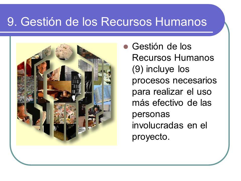 9. Gestión de los Recursos Humanos