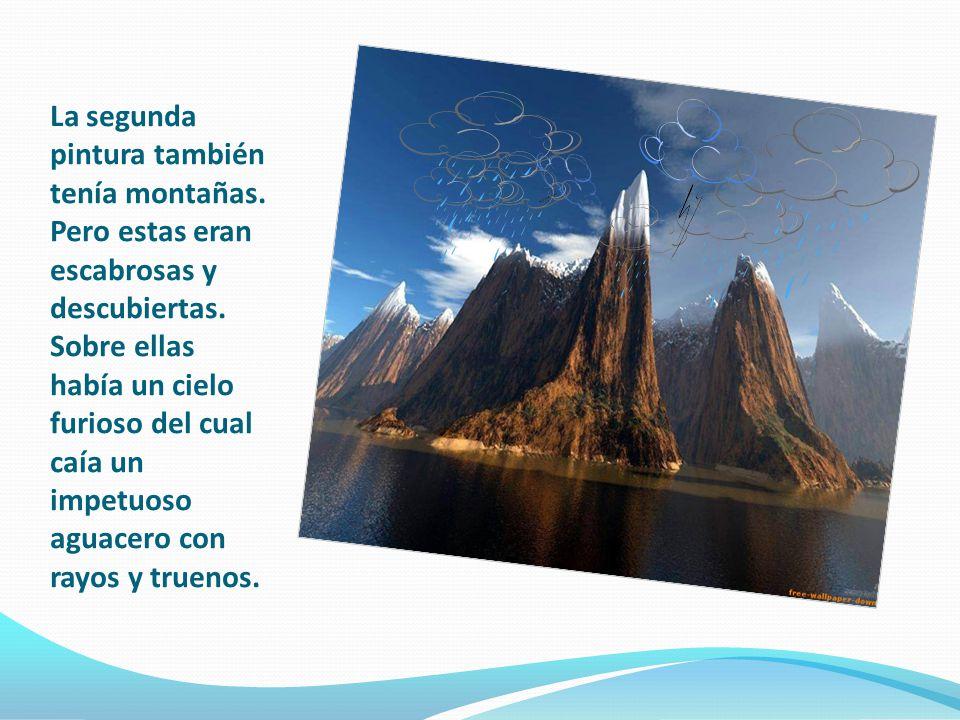 La segunda pintura también tenía montañas