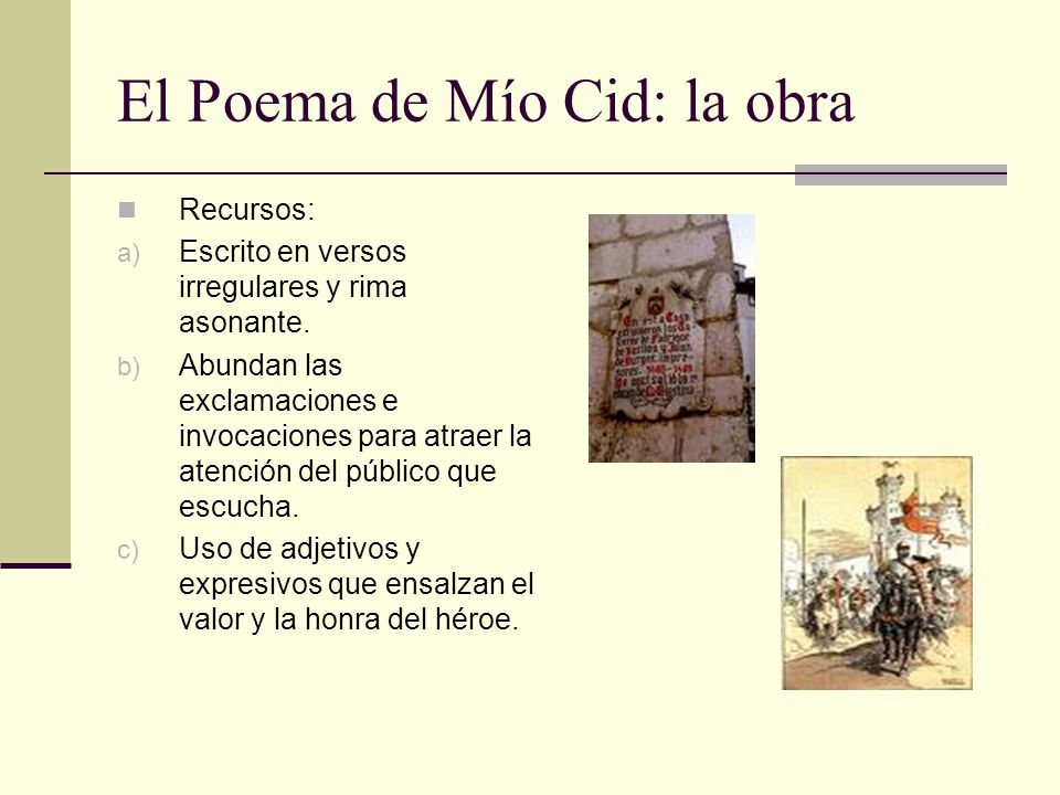 El Poema de Mío Cid: la obra