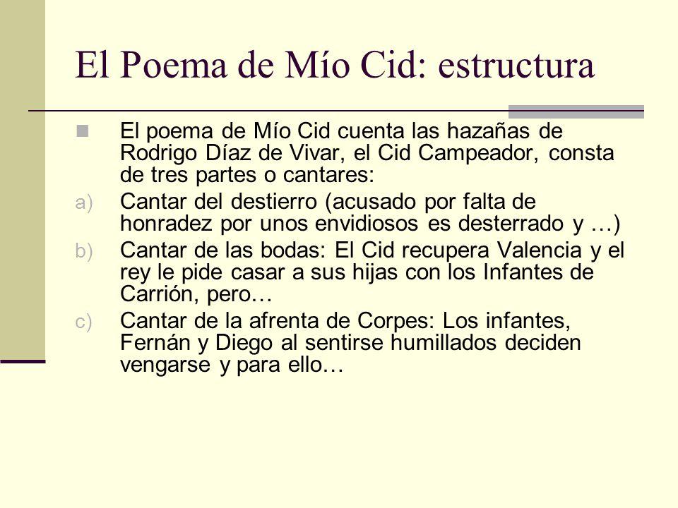 El Poema de Mío Cid: estructura