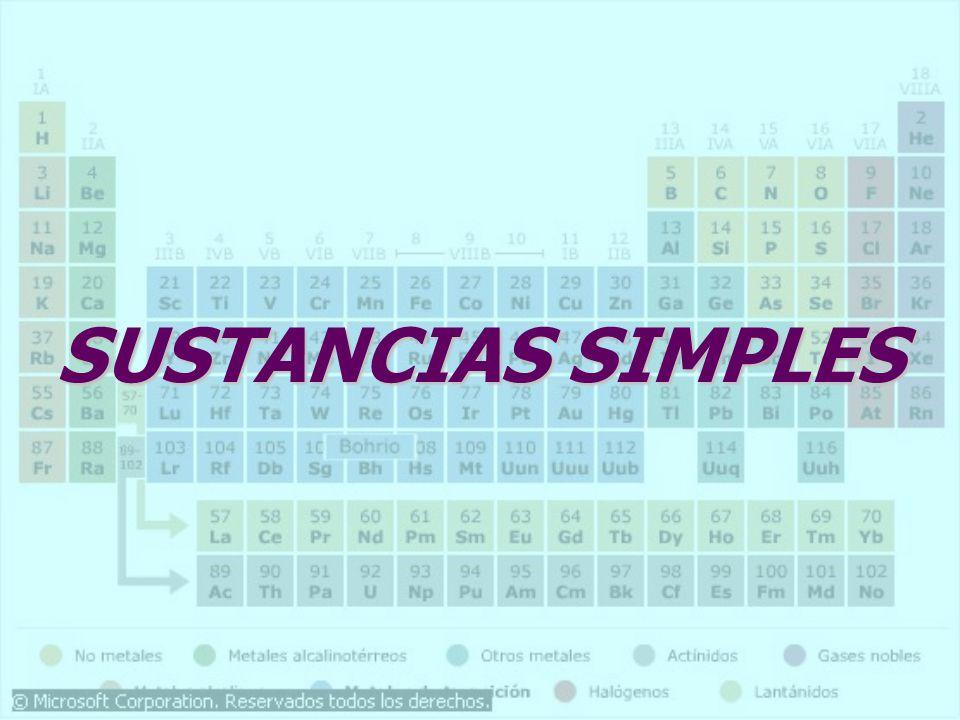 SUSTANCIAS SIMPLES