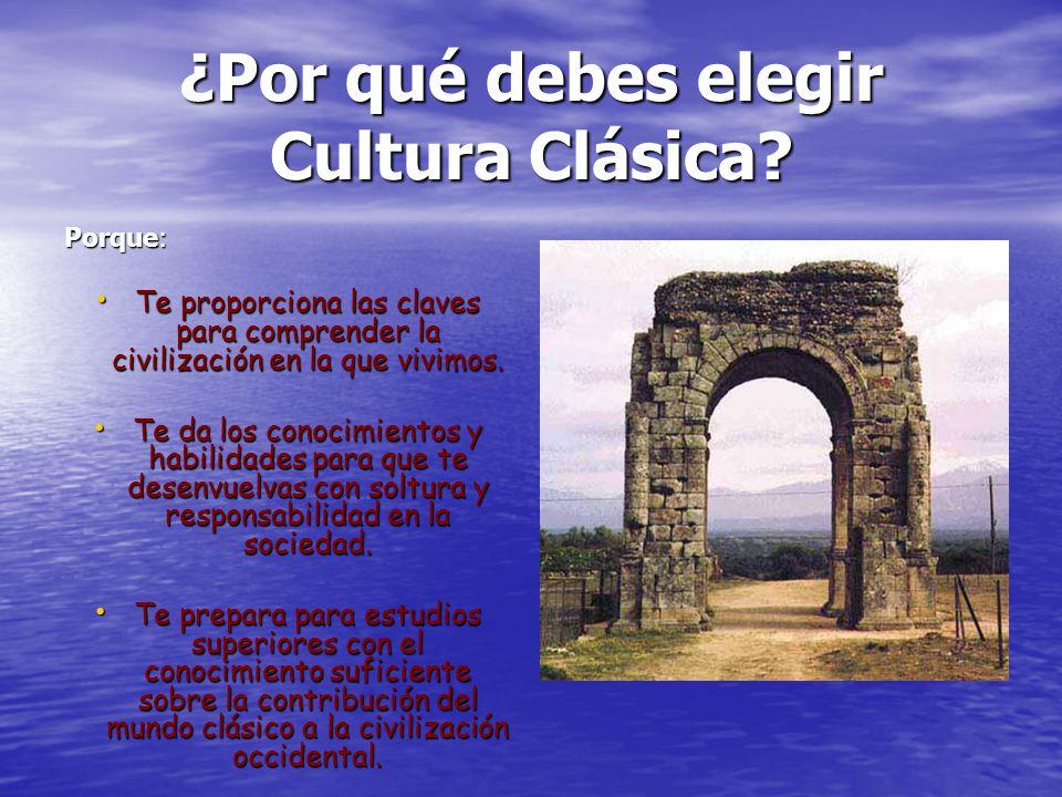 ¿Por qué debes elegir Cultura Clásica