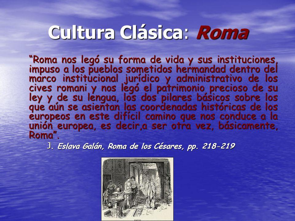 Cultura Clásica: Roma