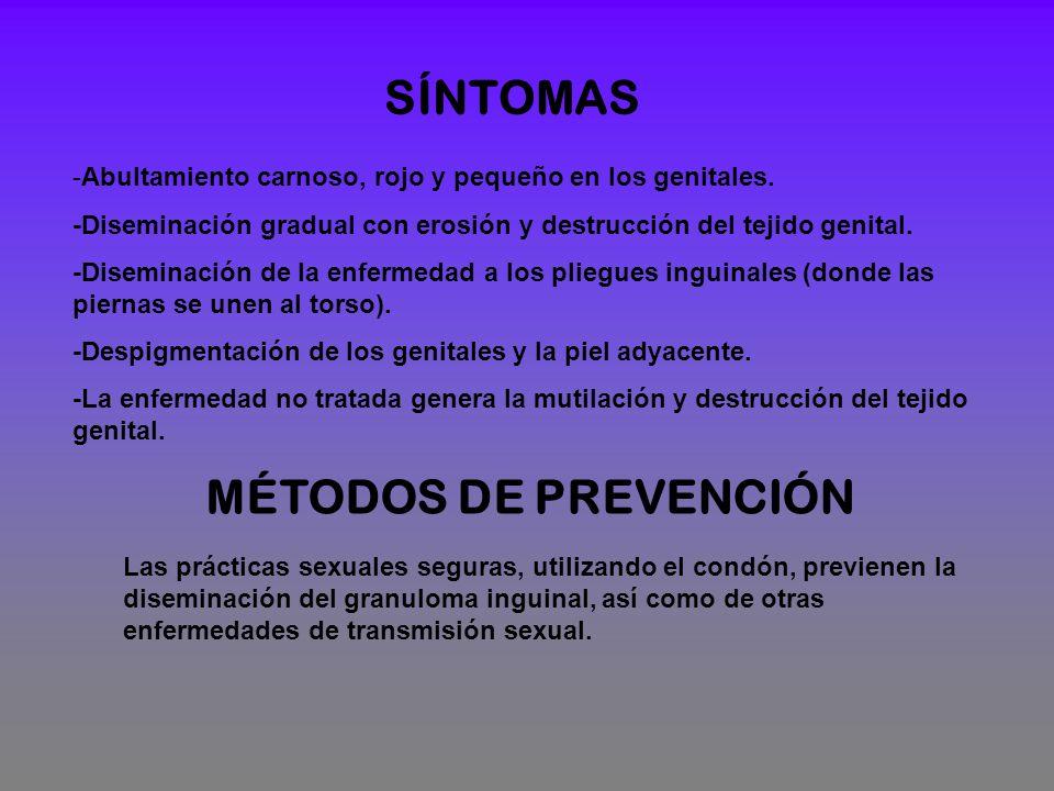 SÍNTOMAS MÉTODOS DE PREVENCIÓN