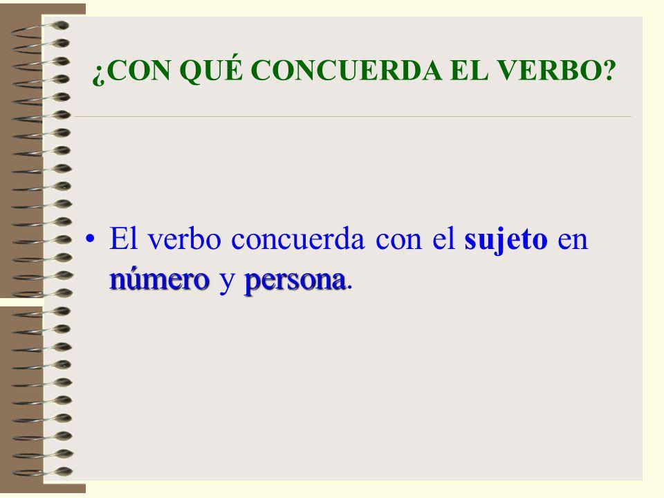 ¿CON QUÉ CONCUERDA EL VERBO