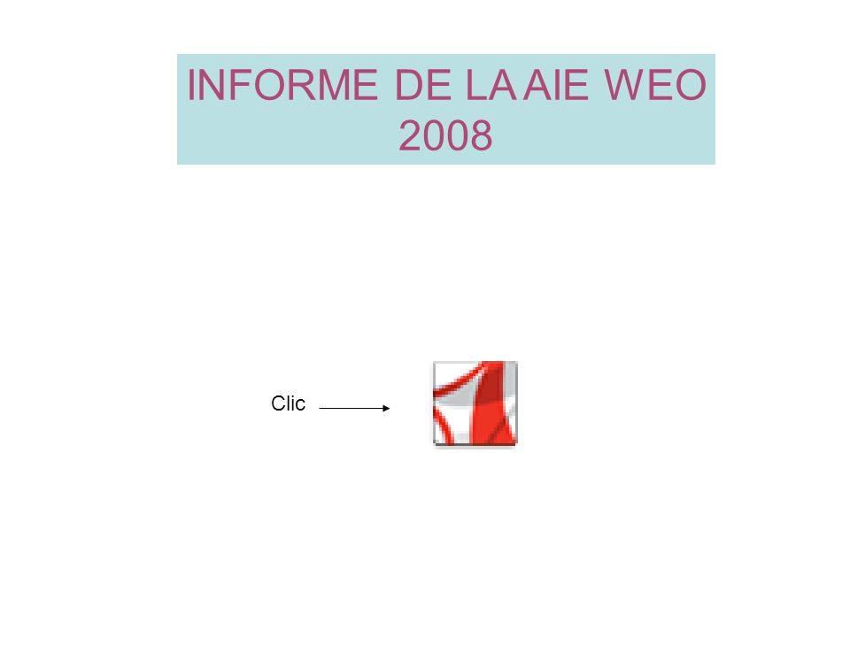 INFORME DE LA AIE WEO 2008 Clic