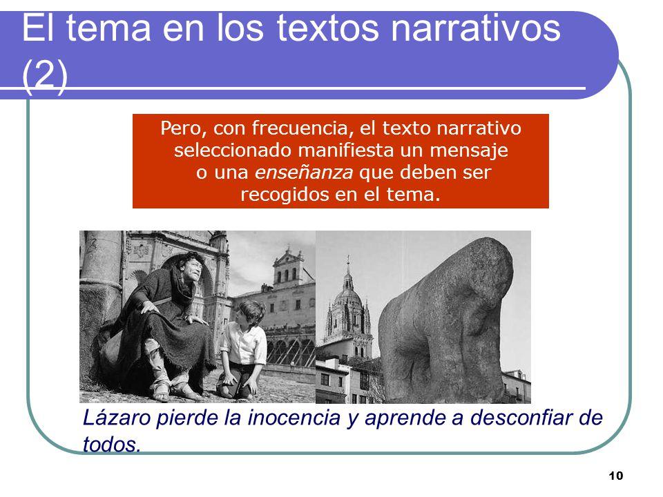 El tema en los textos narrativos (2)
