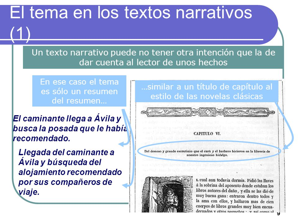 El tema en los textos narrativos (1)