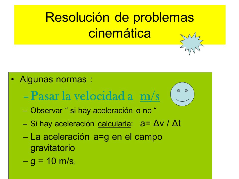 Resolución de problemas cinemática