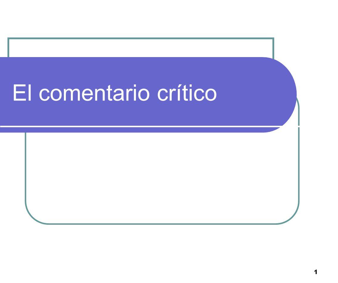 El comentario crítico