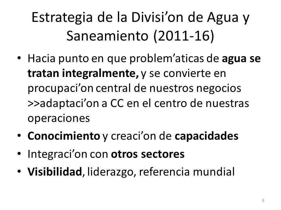 Estrategia de la Divisi'on de Agua y Saneamiento (2011-16)