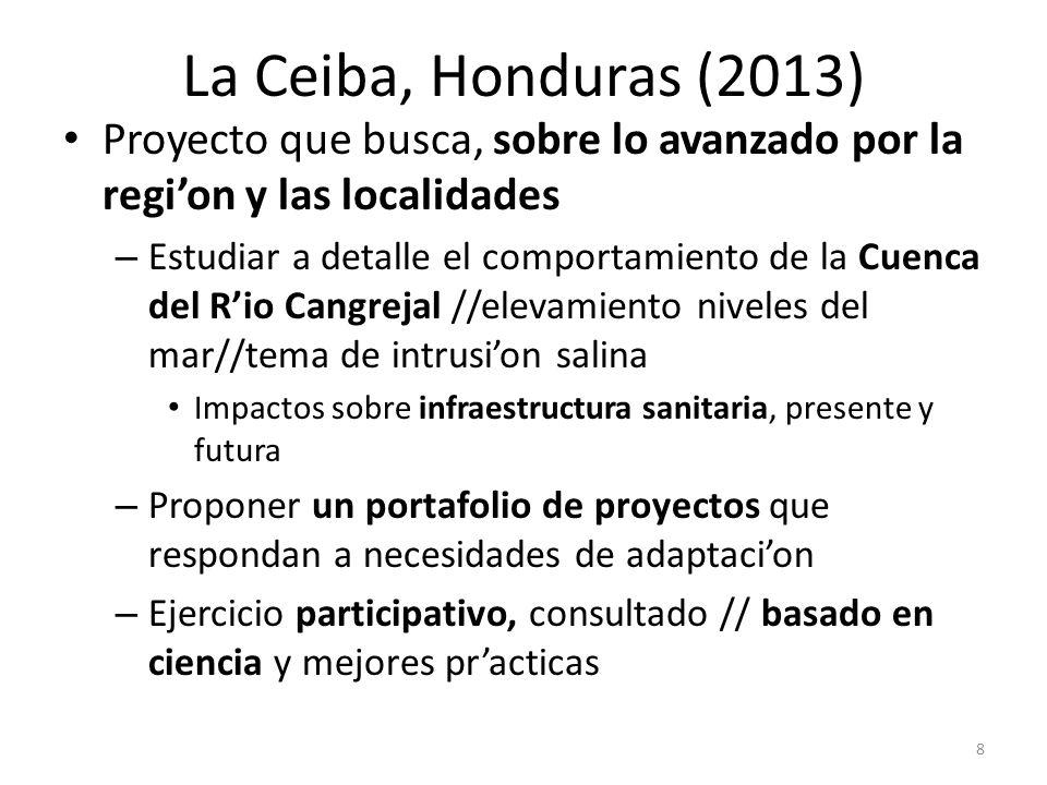La Ceiba, Honduras (2013) Proyecto que busca, sobre lo avanzado por la regi'on y las localidades.