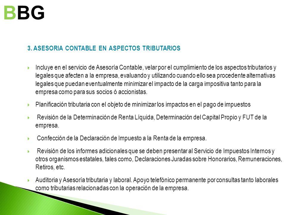 BBG 3. ASESORIA CONTABLE EN ASPECTOS TRIBUTARIOS
