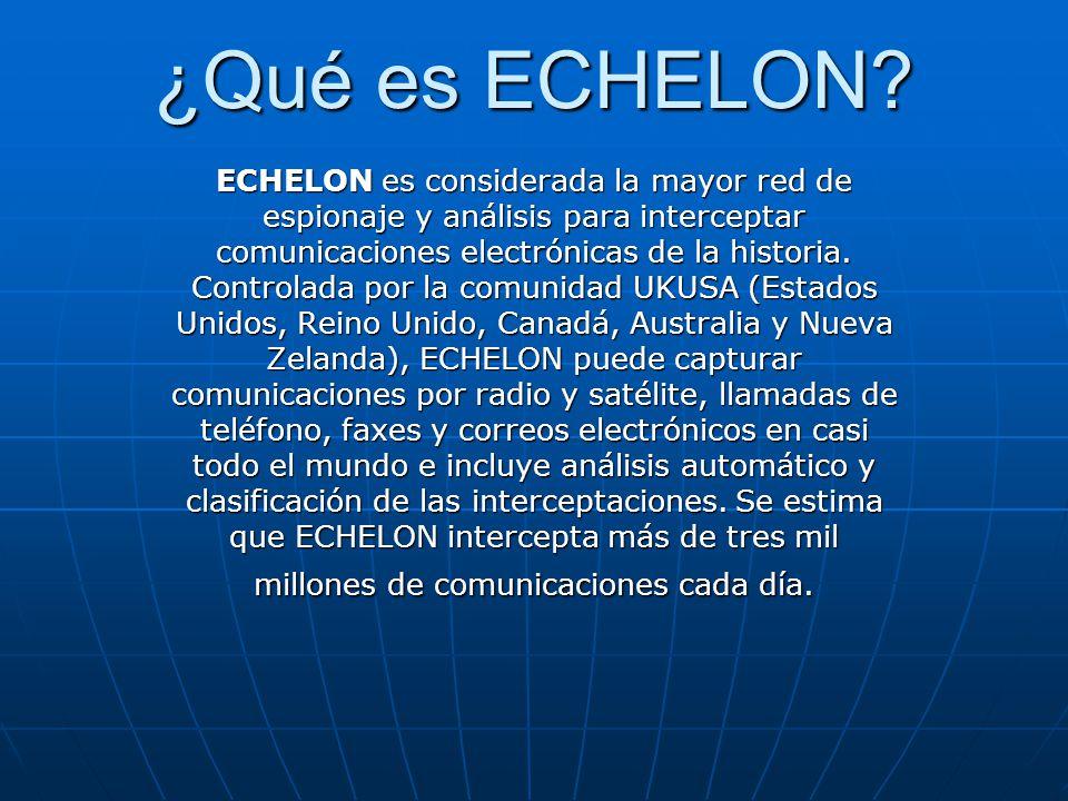 ¿Qué es ECHELON